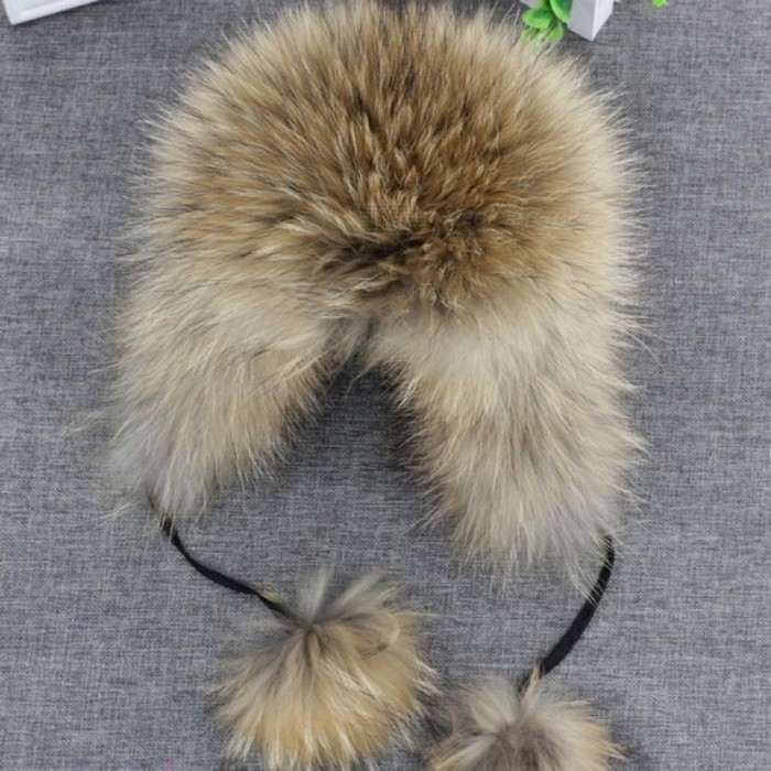 100% Real Fox fur Women s Russian Ushanka Aviator Trapper Snow Skiing Hat  Caps Earflap Winter 1cc358f5e428