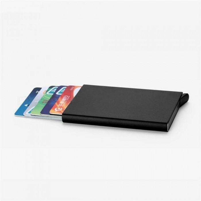 f3199b0138c ... Elegant Business Credit Card Holder Metal Wallet Porte Carte Pocket  Bank ID Card Holder Case Gift