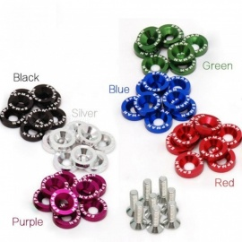 10X Car Modified Screw Gaskets Six Colors for BMW E39 E90 E60 E36 F30 F10 E34 E30 Mini Cooper Audi A4 B8 A3 A6 C6 Q5 A5 Purple