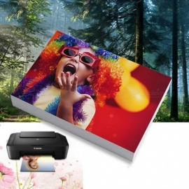 Photo Paper 3R,4R,5R,6R,A7,A6,A5,A4 100 Sheets Glossy Printer Photographic Paper Printing for Inkjet Printers Office Supplies A4 230g 20 sheets