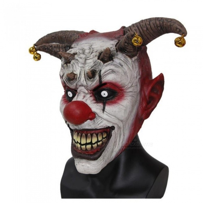 The Clown Horror Latex Halloween Scary Head Mask Full Face Party Masks Villain Joke Mask Christmas Cosplay