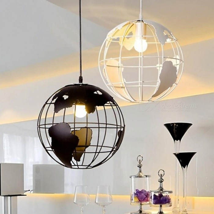 Creative Arts Cafe Bar Restaurant Bedroom Hallway Lamp Scandinavian Modern Minimalist Sngle-Head Pendant Light with Earth