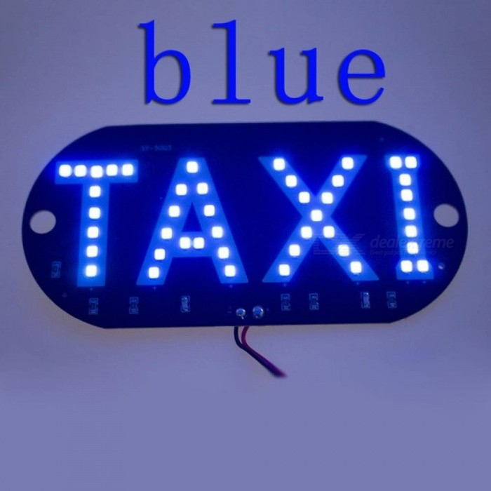 1pc/lot Taxi Led Car Windscreen Cab Indicator Lamp Sign Blue LED Windshield Taxi Light Lamp