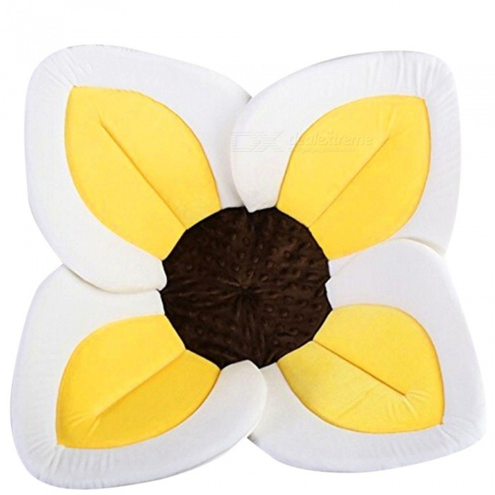Blooming Bath Flower Bath Tub for Baby Blooming Sink Bath for Baby Infant Sink Shower Flower Play Bath Sunflower Cushion Mat