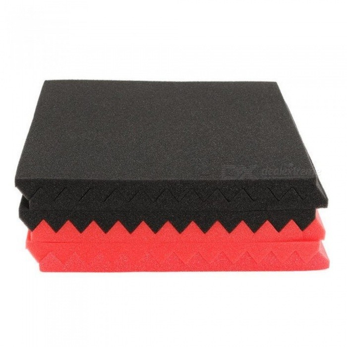 6pcs Soundproofing Foam Acoustic Foam Sound-Absorbing Noise Sponge Foams for KTV Studio Room Absorption Wedge Tiles