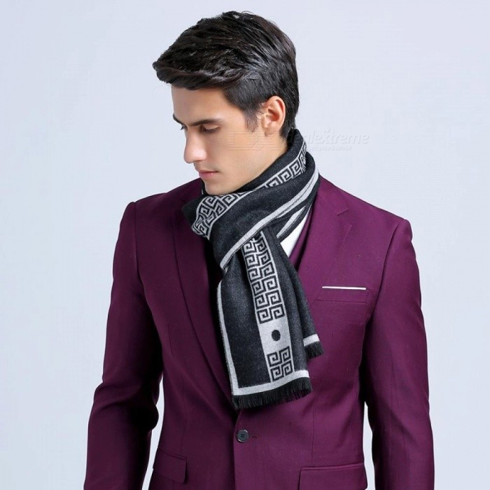 Men Business Scarf Silk Cashmere Warm Scarf Shawl Good Quality 180*30 cm Winter Warm Scarves for Men