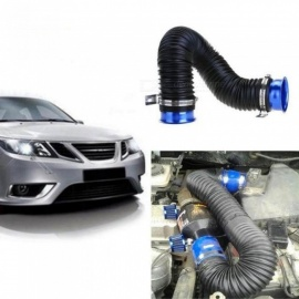Universal 75mm 3 Inch Flexible Air Intake Pipe Inlet Hose Tube Duct Multi Aluminum Adapter Hose 90cm Car Accessories  Blue
