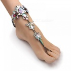 Boho Crystal Anklet Australia Beach Vacation Ankle Bracelet Sandals Sexy Leg Chain Female Statement Foot Jewelry A AB color