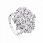 Clear Cubic ZIrconia Elegant Bowknot Wedding Rings for Womenbelly rings Bridal Engagement Free Shipping  white gold/6.5