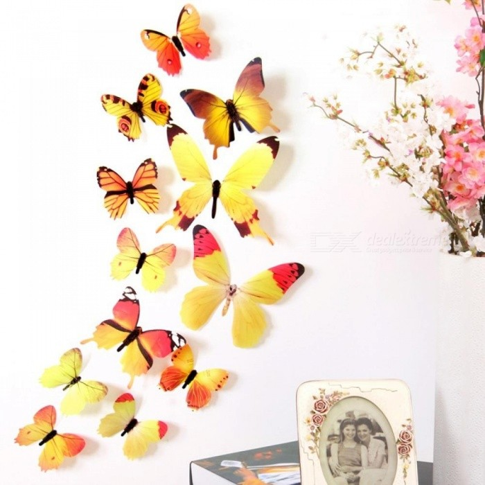 New Qualified Wall Stickers 12pcs Decal Wall Stickers Home ...