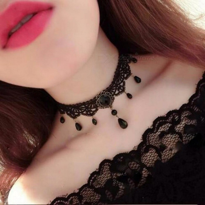 Fashion Black Velvet Choker Necklace for Women Statement Necklaces & Pendants Female Collier Jewelry
