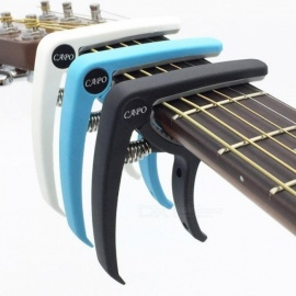 Plastic Guitar Capo for 6 String Acoustic Classic Electric Guitarra Tuning Clamp Musical Instrument Accessories Guitar Strings Black
