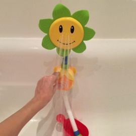 Baby Bath Toys Children Sunflower Spray Water Shower Faucet Kids Bath Toy with Box Bathroom Toys Random Color Baby Bath Toy
