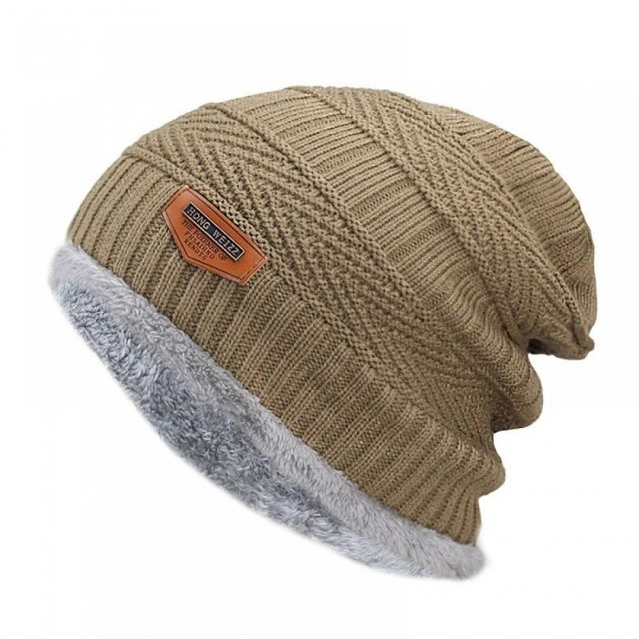 a6f4d790179 ... Men s Winter Hat Fashion Knitted Black Hats Fall Hat Thick and Warm and  Bonnet Skullies Beanie