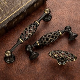 Vintage Birdcage Door Handle Antique Furniture Knobs and Handles for Kitchen Cabinets Vintage Closet Handle Drawer Pull E