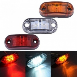 10pc 24 / 12V LED luces intermitentes de marcador lateral para camiones de remolque piraña caravana luz de advertencia lateral luz ámbar rojo blanco rojo