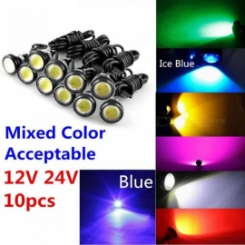 9W 12V 24V 18MM 23MM LED Eagle Eye Light Car Fog DRL Daytime Reverse Parking Signal Yellow Amber Blue White Red 12V/18MM/Icy Blue