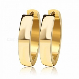 Fashion Circle EarringsPunk Rock Silver Color/Gold-Color Small Circle Hoop Earrings for Women Jewelry Gold-color