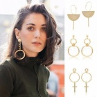 Fashion Jewelry Accessories Bohemia Big Hollow Circle Design Hoop Earring Best Gift for Lover's Girl  Style 5