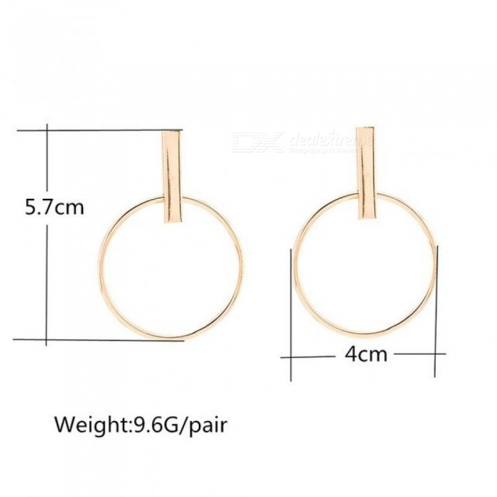 Korean Simple Aros Hoop Earrings for Women Geometric Big Circle Ear Hoop Earrings Brincos Jewelry