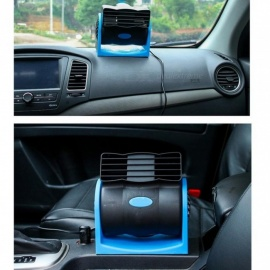 12V Portable Car Air Conditioning Cooler Fan Automotive Mobiele Airconditioning Stand Ventilator Refrigeration Turbine Fan Balck