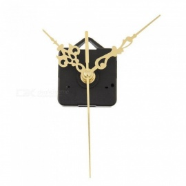 Luxury Charming Quartz Clock Movements Mechanism Parts Repair Making DIY Watch Tools with Gold Hands Silence Wall Clock Part