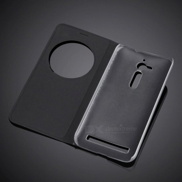 Circle View Window Case Cover for ASUS Zenfone Go Flip PU Leather Case For ASUS Zenfone go 5.0 Inch ZB500KL ZB500KG