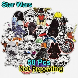 50 stks star wars sticker voor laptop bagage tassen auto styling cool DIY doodle waterdicht stickers cartoon PVC creatieve decal speelgoed star wars sticker