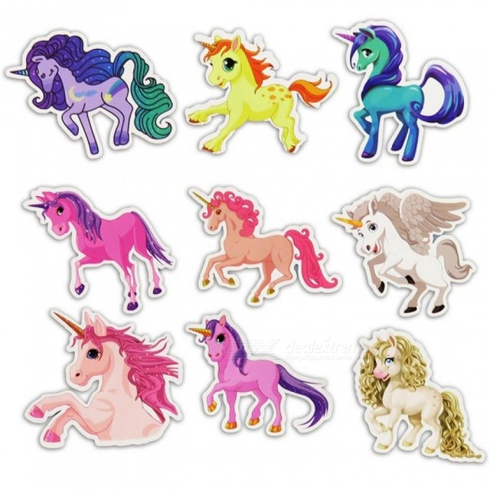 30 Pcs Colorful Cute Unicorn Stickers for Laptop Car Styling Phone Luggage Bike Motorcycle Mixed Cartoon PVC Waterproof Sticker