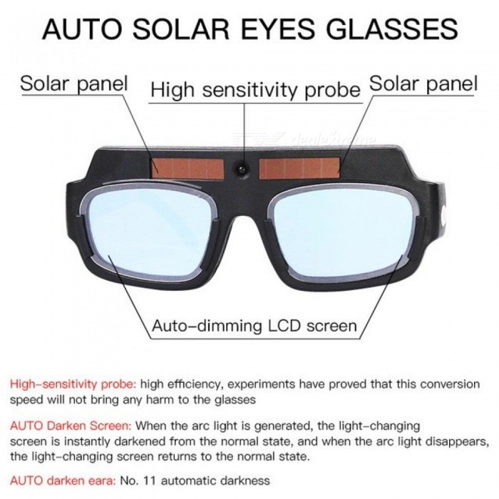 Solar Auto Darkening Eyes Mask Welding Helmet Welding Mask Eyeshade Patch Eyes Goggles for Welder Eyes Glasses