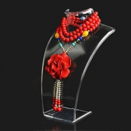 20*13.5*7.3cm Mannequin Necklace Jewelry Pendant Display Stand Holder Show Decorate Jewelry Display Shelf Three Colors  Black