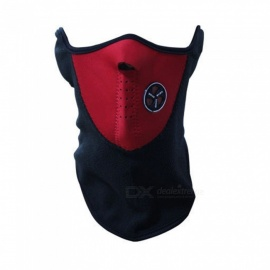 Airsoft Warm Fleece Bike Half Face Mask Cover Face Hood Protection Ski Cycling Sports Outdoor Winter Neck Guard Scarf Warm Mask Red