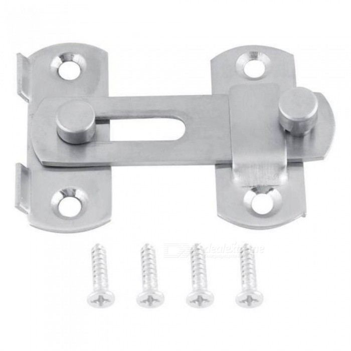 Hasp Latch Stainless Steel Hasp Latch Lock Sliding Door Lock for Window Cabinet Fitting Room Accessories Home Hardware