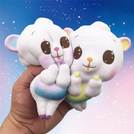 Kawaii Scented Cute Big Sheep Alpaca Squishy Slow Rising Soft Squeeze Fun Decompression Kids Toy Phone Straps Children's Gift Random Color