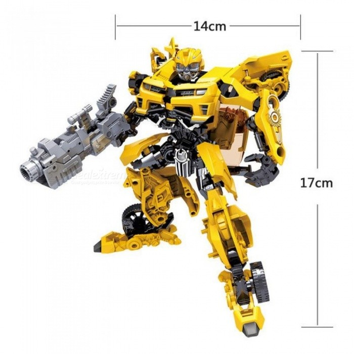Children Robot Toy Transformation Anime Series Action Figure Toy 2 Size Robot Car ABS Plastic Model  Action Figure Toy for Child