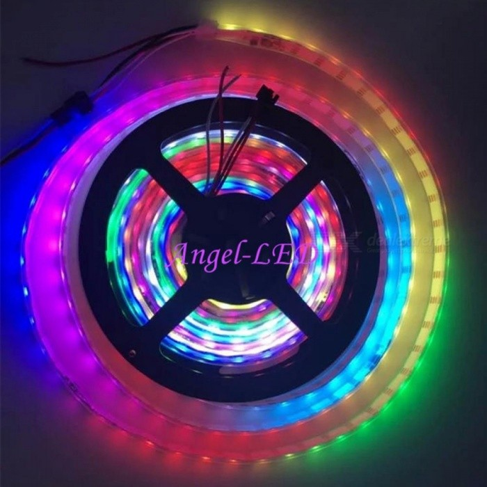 DC5V ws2812b ws2812IC Built-in Individually Addressable 30/60leds/m 5050  RGB Dream Color LED Strip Light Changeable Color
