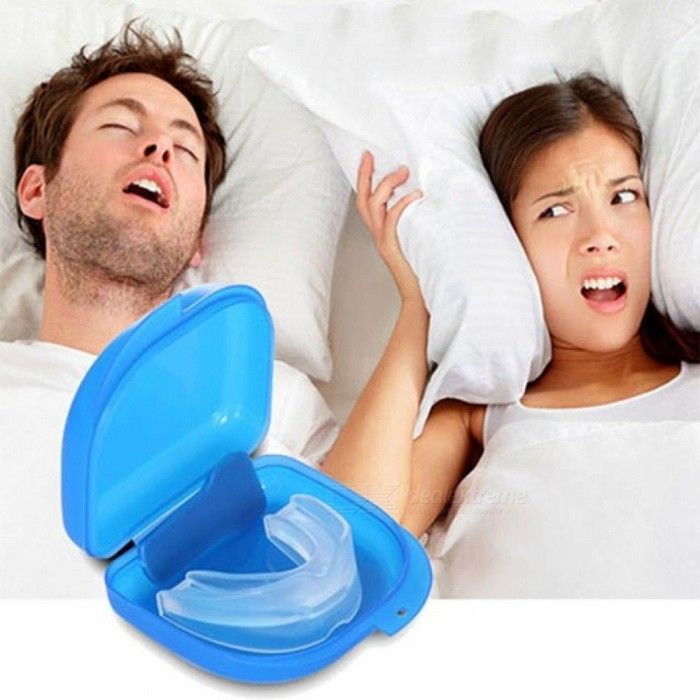 Mouth Guard Stop Teeth Grinding Anti Snoring Bruxism With Case Box