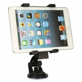 Universal Car Windshield Suction Adjustable Tablet Mobile Phone Mount Holder Stand for Ipad/Iphone/Samsung 6.5-14cm Width Black