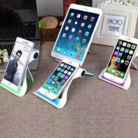 13*10*2.5cm Universal Tablet PC Holder Foldable Adjustable Angle Desk Phone Holder Stand Flexible for Samsung iPad Tablet PC Green