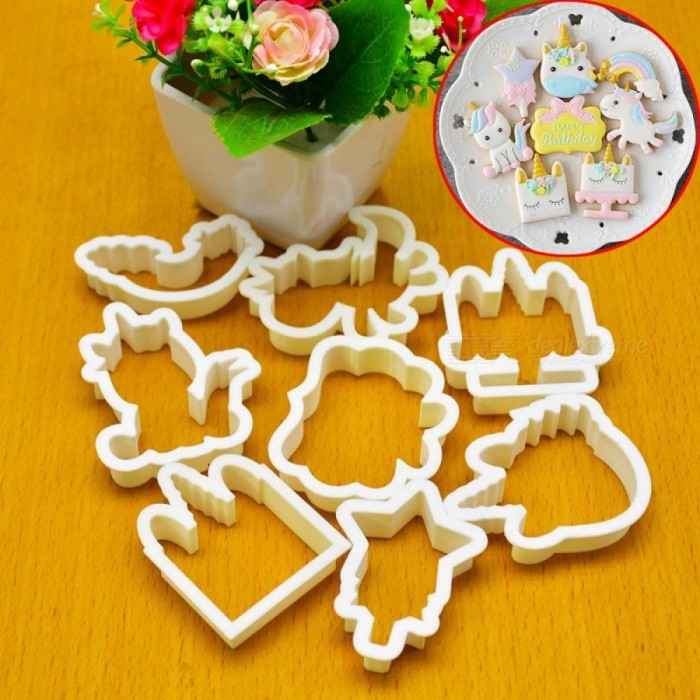 1 Set Unicorn Cookie Stamps Stainless Steel Cookie Biscuit Decoration Mold Animal Shape Cookie Cutters