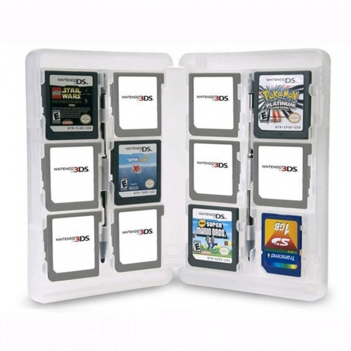 28 Slots Memory Card Holder Game Card Case Box Cartridge Anti Dust Anti Scratch Protect for Nintendo 3DS LL XL DS Games Cards