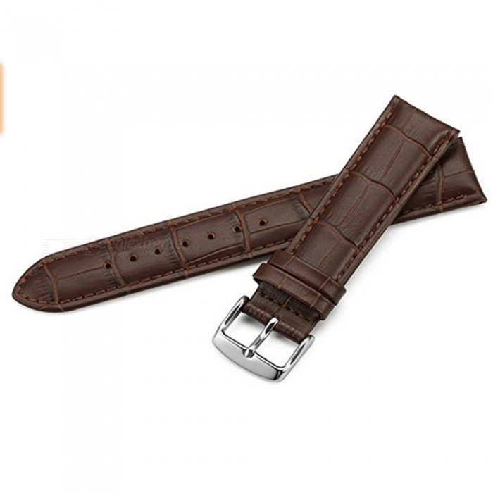 7c286db712d Real Calf Leather Strap for Hours Black Brown Alligator Grain Bracelet for  IWC Watch Band 12
