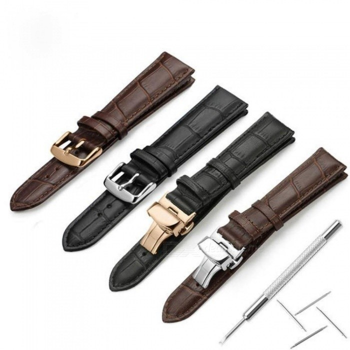 adef4b9ac0f Watchband Myk Kalv Ekte Lær Ur Stropp Alligator Korn Watch Band For Tissot  Seiko 18mm 19mm