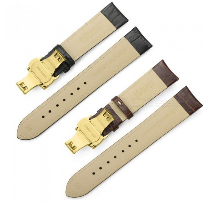 Watchband Soft Calf Genuine Leather Watch Strap Alligator Grain Watch Band for Tissot Seiko 18mm 19mm 20mm 21mm 22mm 24mm
