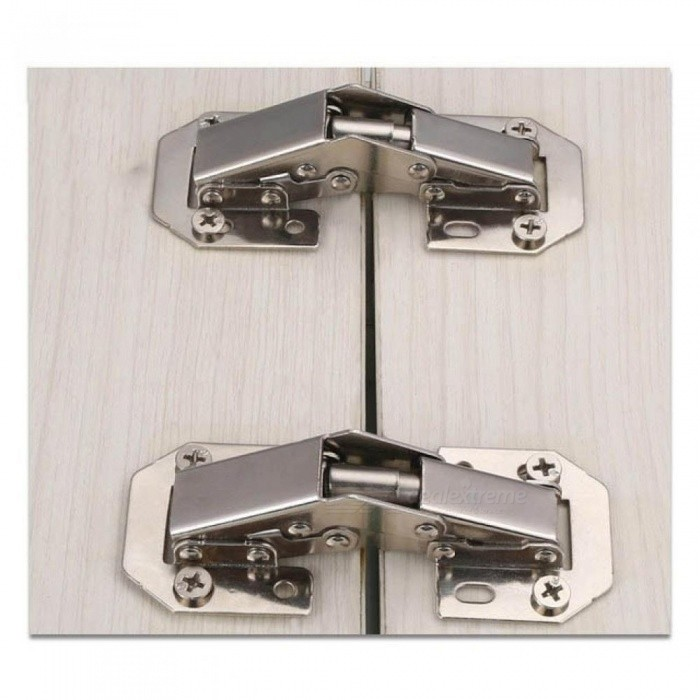 90 Degree Cabinet Hinges 3 Inch No-Drilling Hole Bridge Shaped Spring Hinge Cupboard Door Furniture Hardware with Screws