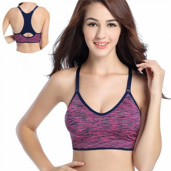 68ad726b46 Women Fitness Yoga Sports Bra for Running Gym Adjustable Spaghetti Straps  Padded Top Seamless Top Athletic Vest S M L M Red - Worldwide Free Shipping  - DX
