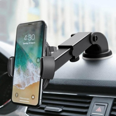 Luxury Car Phone Holder for iPhone X 8 7 7 6 Plus Windshield Mount Phone Stand 360 Rotation Car Holder for Samsung S9 S8 Yellow