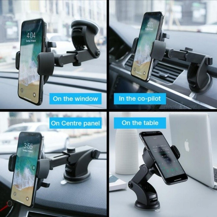 Luxury Car Phone Holder for iPhone X 8 7 7 6 Plus Windshield Mount Phone Stand 360 Rotation Car Holder for Samsung S9 S8