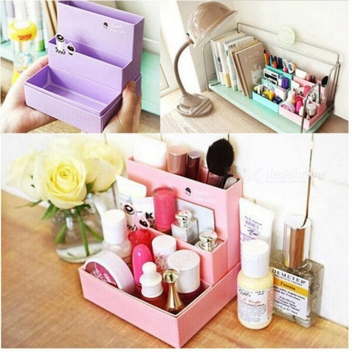 50 40cm Diy Paper Board Storage Box Desk Decor Stationery Makeup Cosmetic Organizer Bo Bins Random