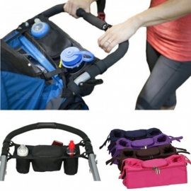 Baby Stroller Organizer Cooler and Thermal Bags for Mum Hanging Carriage Pram Buggy Cart Bottle Bags Stroller Accessories Coffee